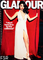 Selena Gomez shows off her leg in a glamorous dress
