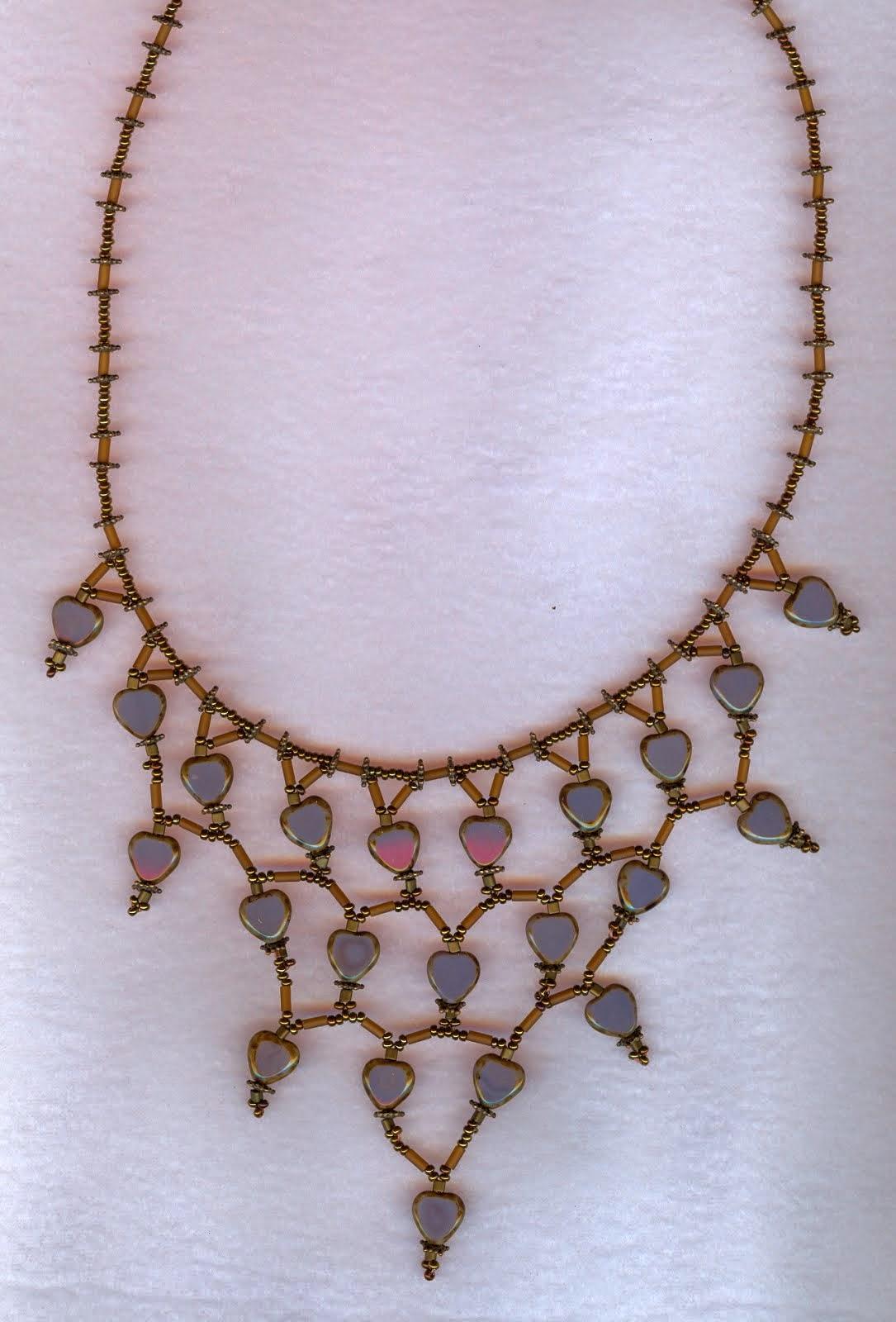 heart shape czech beads