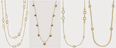 The Limited Long Chain Necklace $17.97 (regular $29.95)  Madewell Ringfringe Necklace $19.99 (regular $32.00)  The Limited Faux Pearl Horse Bit Necklace $20.97 (regular $34.95)  Saks Fifth Avenue 14K Gold Plated Long Station Necklace $20.99 (regular $48.00)
