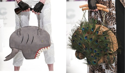 The mad handbags shown above are by Cydelic
