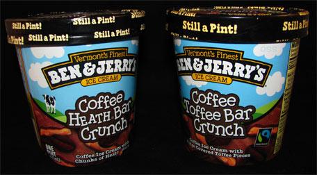 Ben & Jerry's Coffee Heath Toffee Bar Crunch Ice Cream