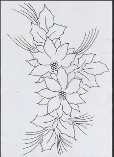 Risco para pintura em tecidos-Flor