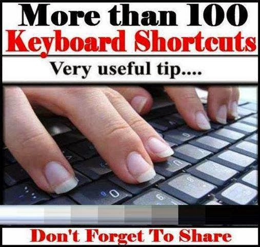 More than 100 Keyboard Shortcuts must read & Share