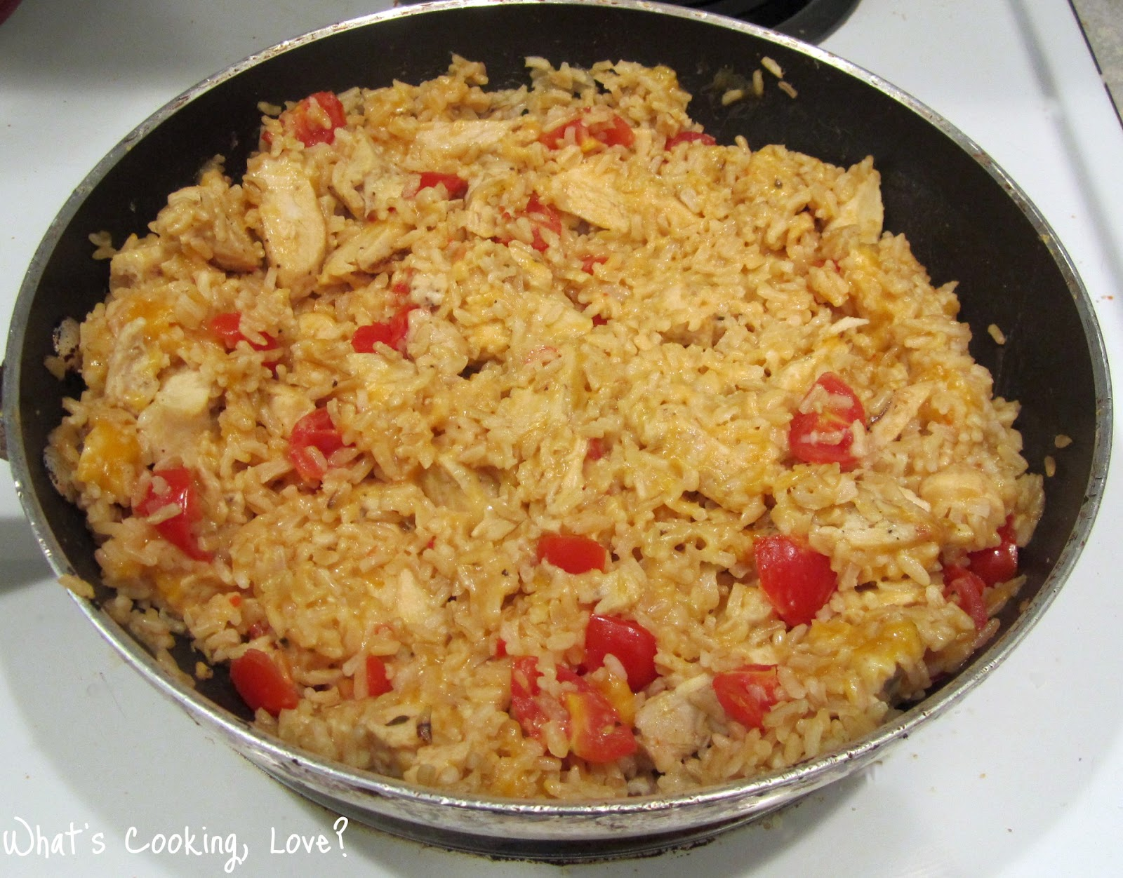 Cheddar Chicken and Rice Skillet - Whats Cooking Love?
