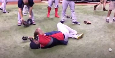 Big Papi nailed square in the groin by his nephew