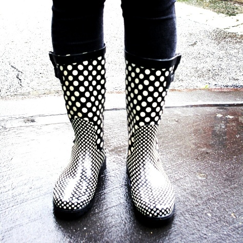 Polkadot Rainboots New York City