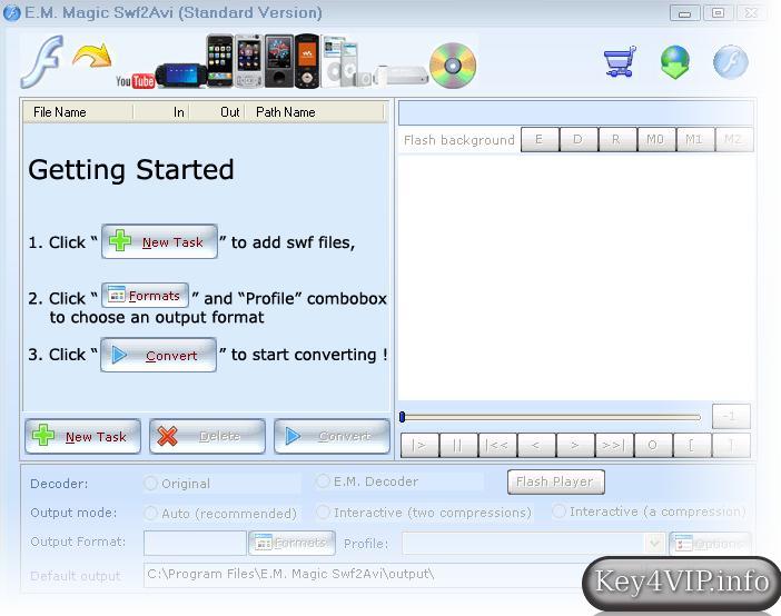 Magic Swf2AVI 6.7 Full Key,Phần mềm chuyển đuôi Flash (*.swf) sang Video