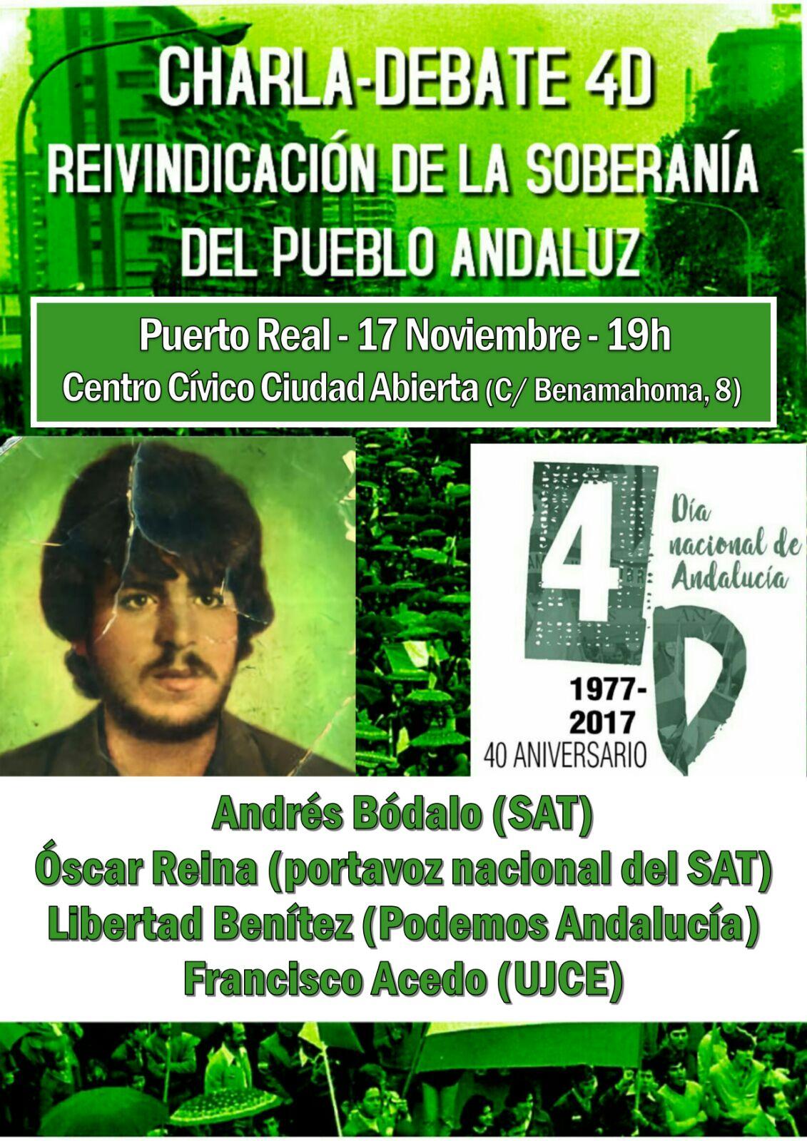 PUERTO REAL (Cádiz): Viernes 17Nov, 19H.  MANIFESTACIÓN 3 de DICIEMBRE EN MÁLAGA.