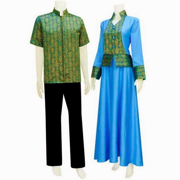 Baju Pasangan Muslim Kemeja Berfuring Semisutra
