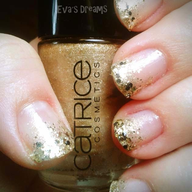 Nails of the week: Nail Art Design - Golden Glamour