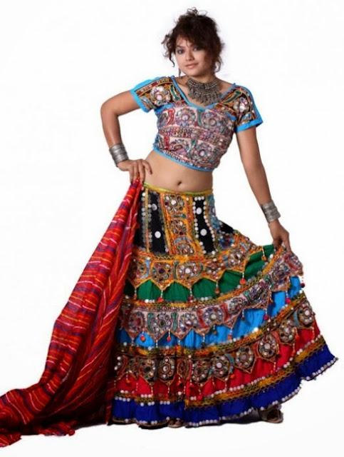 Multicolored Chaniya Choli For Navratri Festival 2013