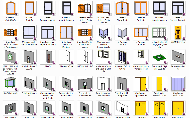 BIBLIOTECA 1  bloques para Revit [+1000 elementos]  arq + recursos