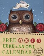 FREE OWL LOVER'S CALENDAR