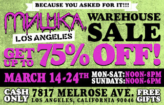 Mishka Los Angeles Warehouse Sale extened to the 24th