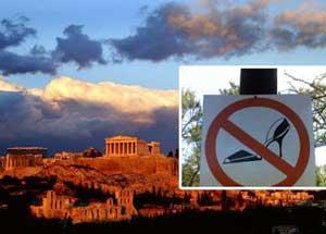 Athena, Yunani – Dilarang memakai sepatu high heels