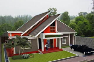 model rumah minimalis atap miring