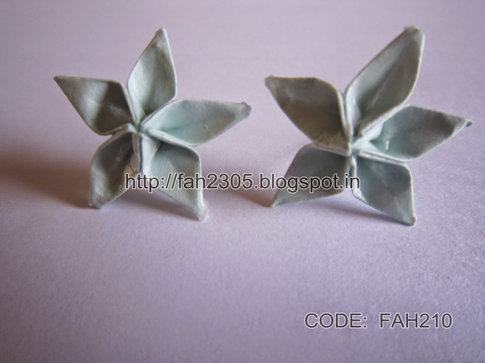 Fah Creations Origami Five Petals Flower Earring Stud Code Fah210