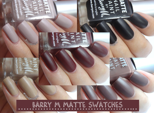 Barry M Matte Nail Paint Swatches and Review | Brit Nails