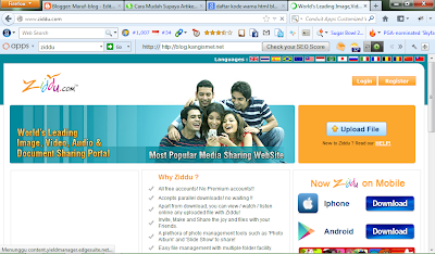 Cara Membuat Link Download Di Ziddu
