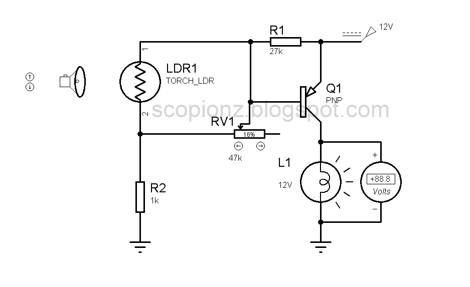 simple automatic brightness control circuit