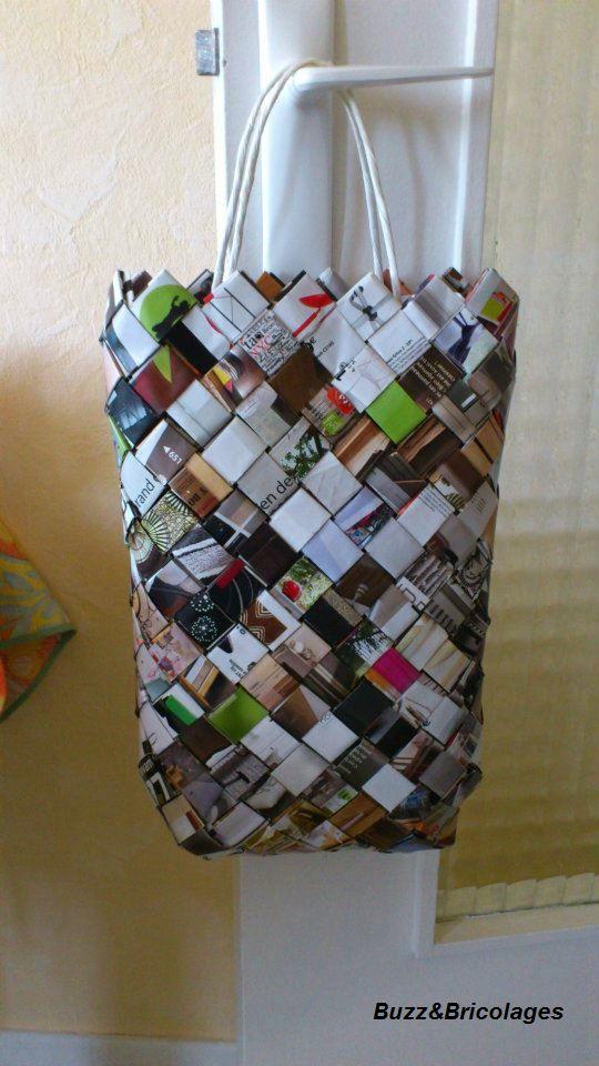 Buzz bricolages d 39 un magazine un sac - Fabriquer un sac en papier magazine ...