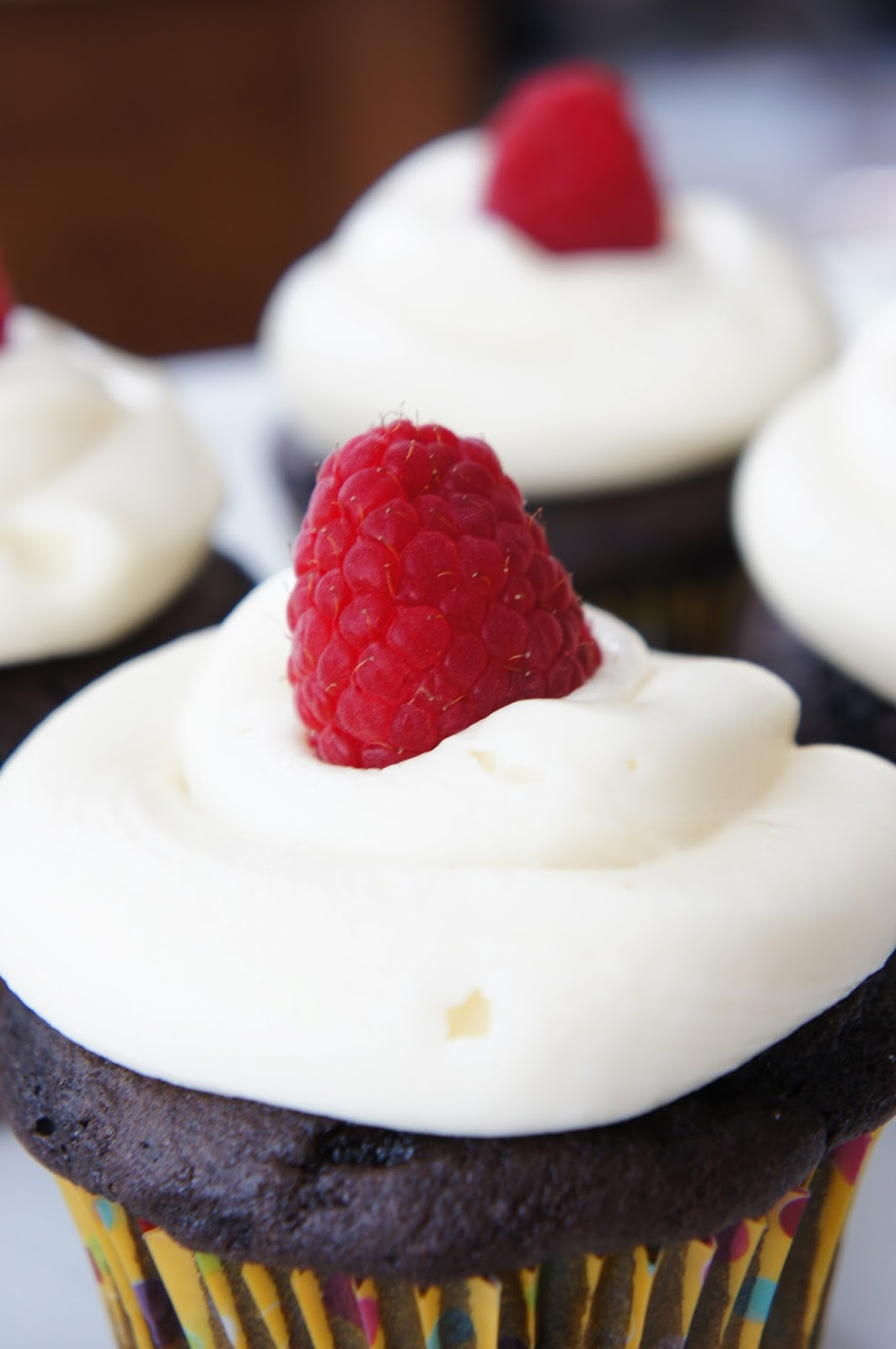 Chocolate Lambic Cupcakes With Raspberry Cream Cheese Frosting Recipes ...