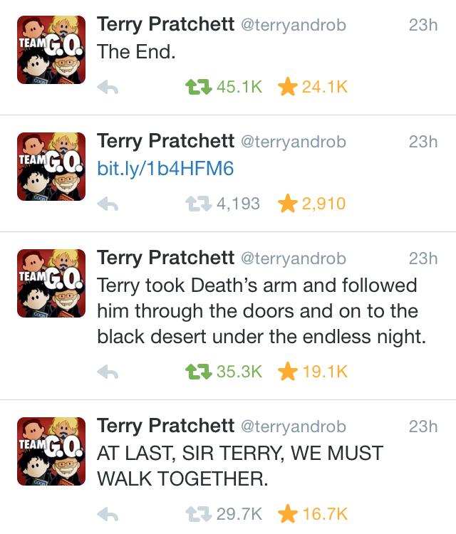 how can i meet terry pratchett bibliography