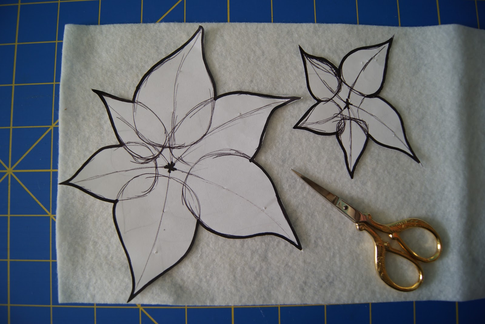 Large Flower Patterns To Cut Out 2 poinsettia patterns, cut