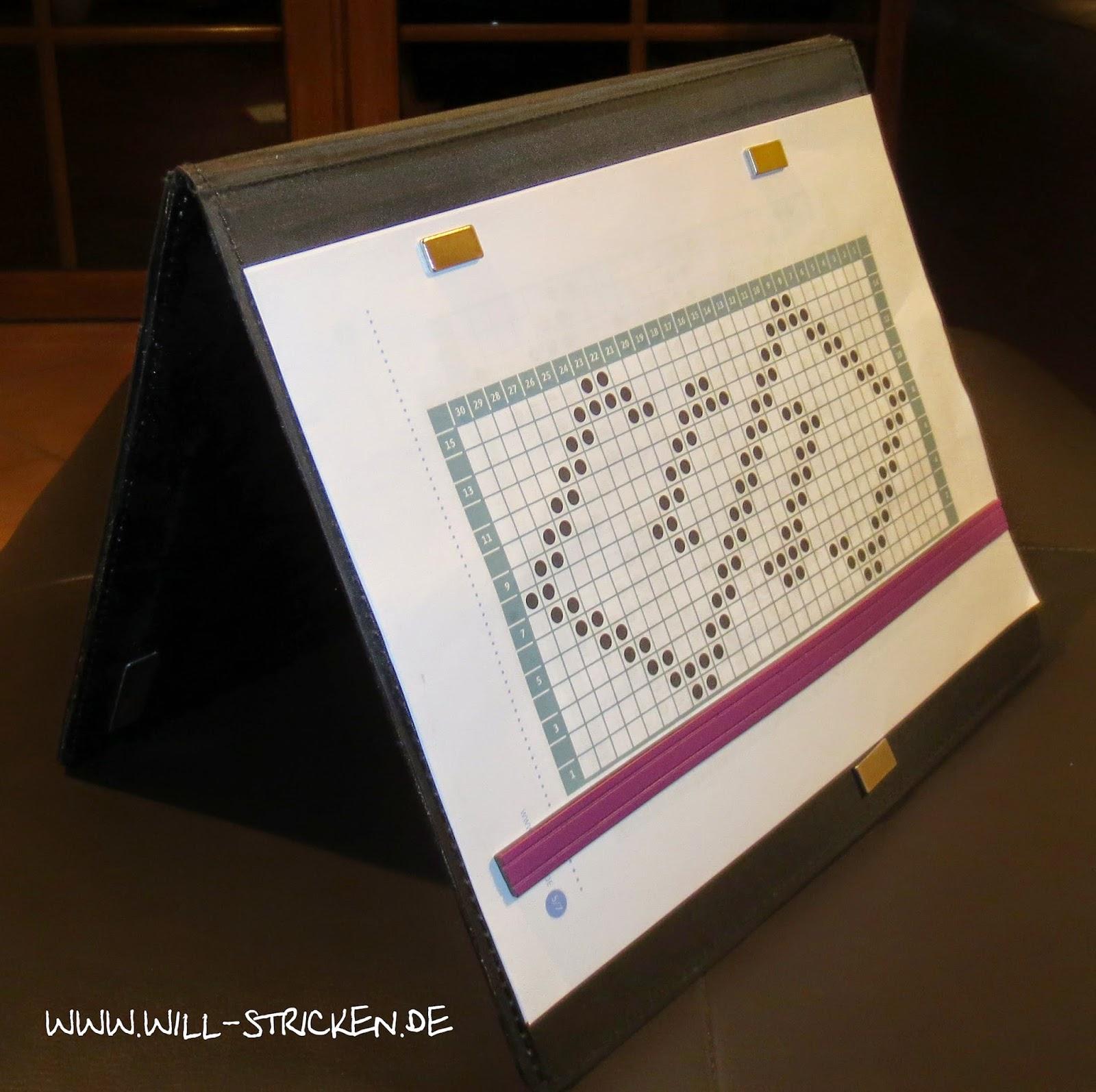 KnitPro Magnetische Anleitungsmappe aufgestellt