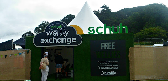 Schuh Welly Exchange at Camp Bestival