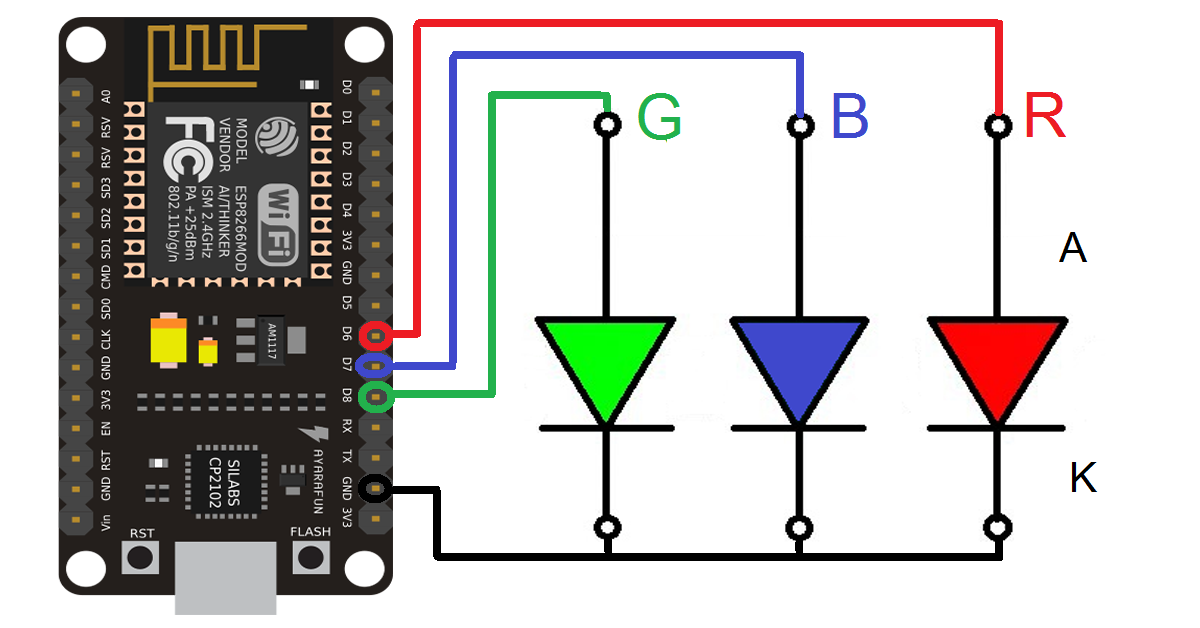 Xlr Dmx To Rj45 Wiring Diagram together with Wiring Arduino I2c Ex Le further  together with Rgb Light Diagram likewise 114. on wiring 4 pin rgb led