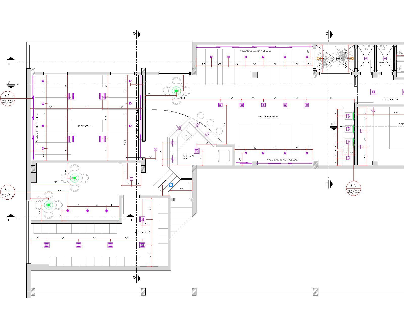 Blog Luz & Design: Projeto luminotécnico: Sauna Lira Tênis Clube #9027A4 1600 1280