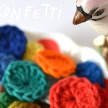 DIY crochet confetti