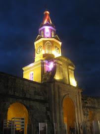 Puerta del Reloj @ Night, Cartagena