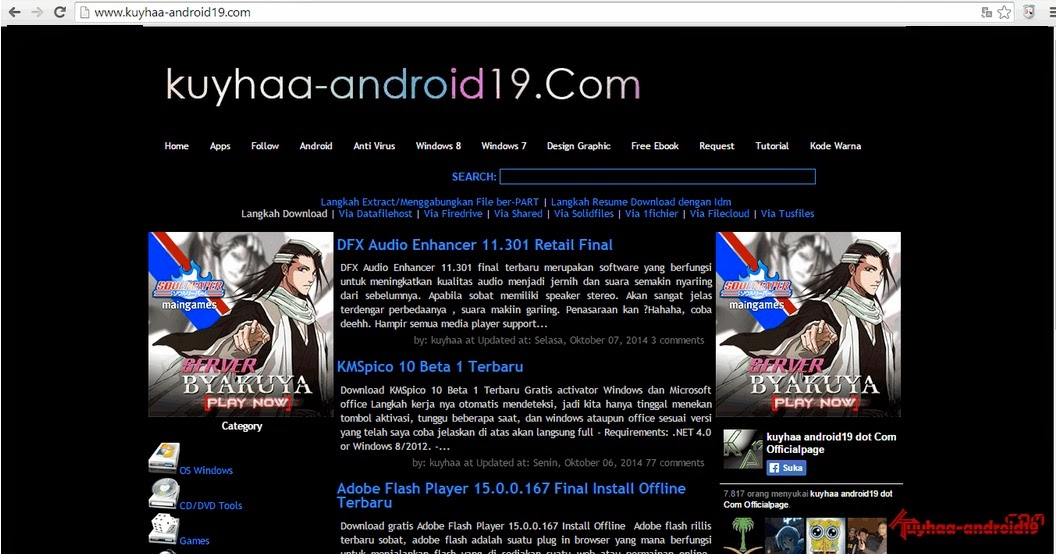 template blogspot kuyhaa-android19.com gratis
