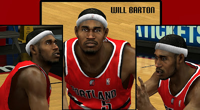 NBA 2K14 Will Barton Cyberface Mod