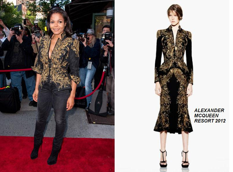 Janet Jackson In Alexander Mcqueen At Marco Glaviano &Quot;supermodel's