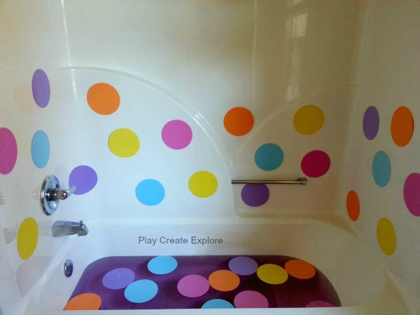 Without Intention, Our Polka Dot Bath Turned Into A Learning Opportunity As  Well!