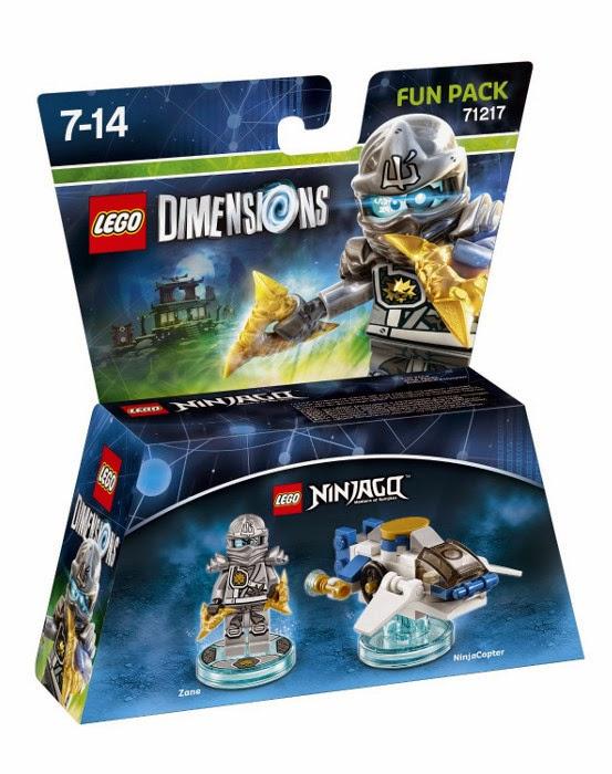 TOYS - LEGO Dimensions  71217 Ninjago Fun Pack | Figura - Muñeco  Zane & Ninjacopter  [27 septiembre 2015] | Juguetes & Videojuegos  Xbox One, PlayStation 4, Nintendo Wii U, PlayStation 3, Xbox 360   Piezas: | Edad: 7-14 años