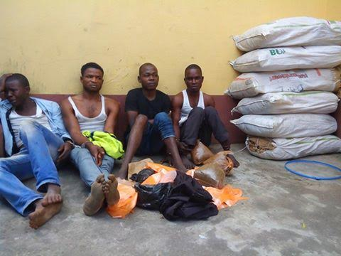 Photo: Lagos RRS acting on a tip off from Ambode arrest Indian Hemp sellers in Lagos
