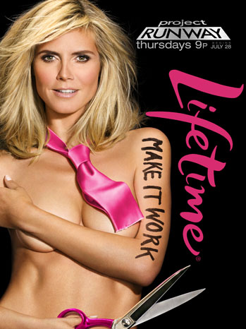 Former Supermodel Heidi Klum Poses Nude for Lifetime's 'Project Runway' Season 9 (First Look Image Revealed)