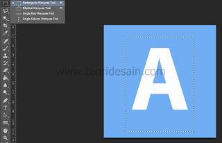 membuat seleksi persegi dengan rectangular marquee tool