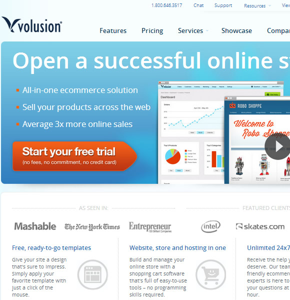 Ecommerce Website Name : Volusion