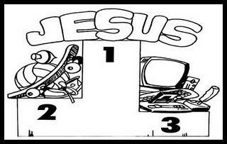 Tenha sempre Jesus em primeiro plano em sua vida!