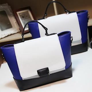 Blue Trapeze Bag, High Fashion Bag, Luxury Fashion Bag