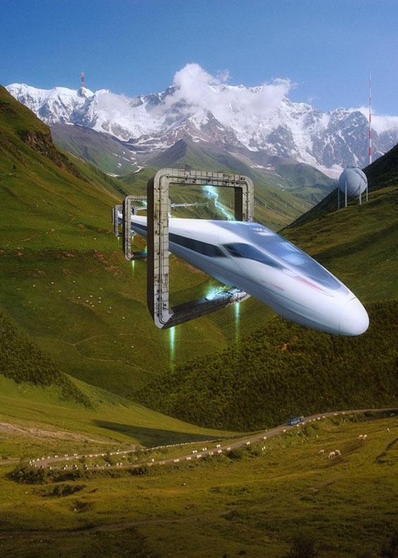 Mundo futurista en el arte digital de Evgeny Kazantsev
