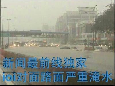 Gambar Banjir Di IOI Mall Puchong