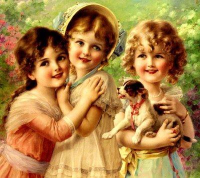 imagem crianças vintage para decoupagem