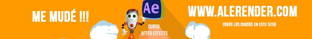 alerender - TUTORIALES AFTER EFFECTS