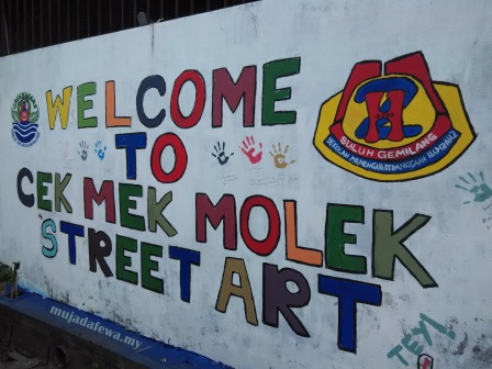 cek mek molek street art, machang street art, street art cek mek molek, street art machang